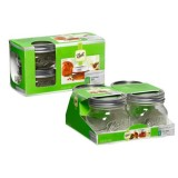Ball Jars Collection Elite Wide Mouth Half Pint 4/Pack
